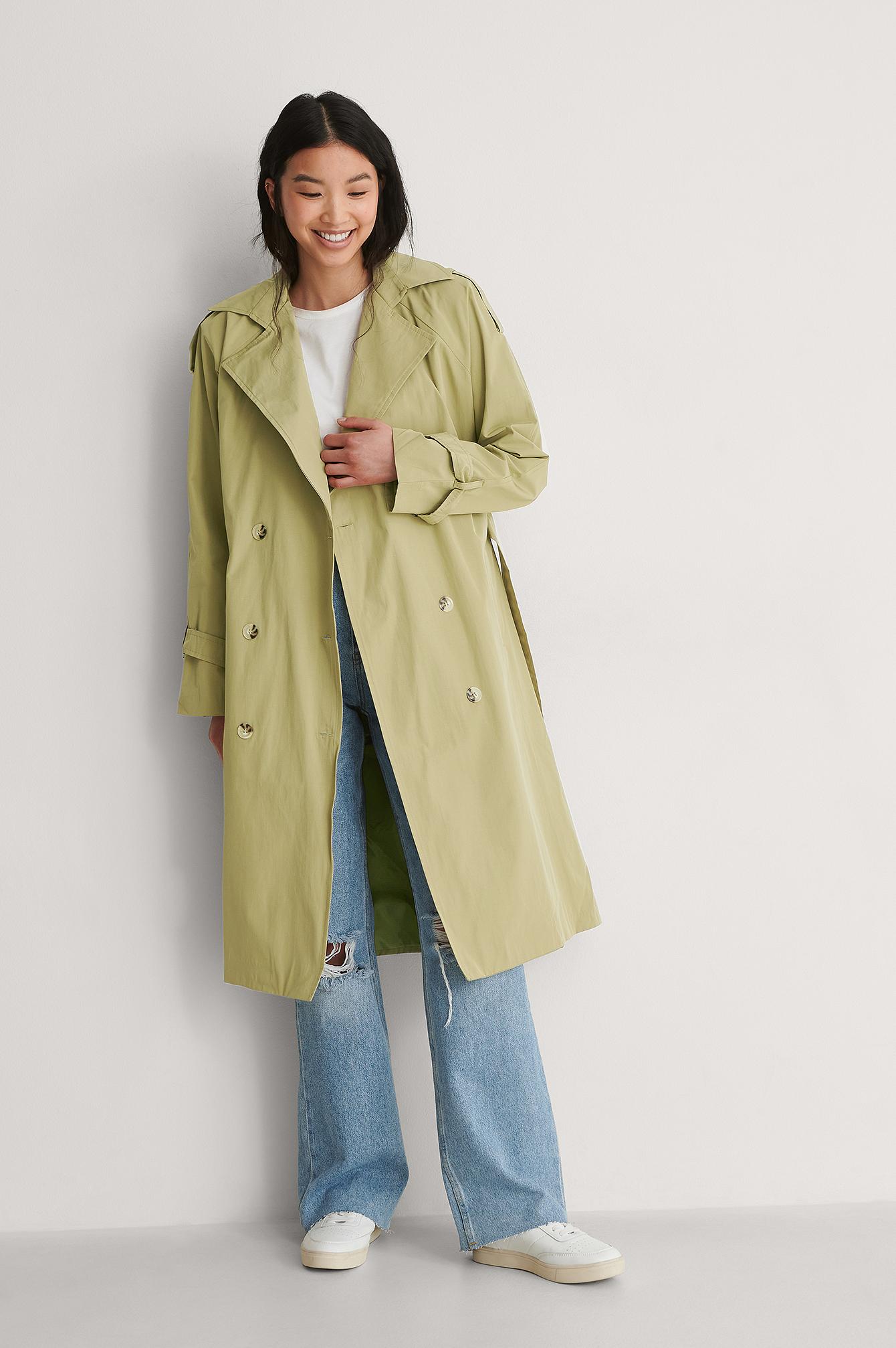 trendyol -  Trenchcoat - Green