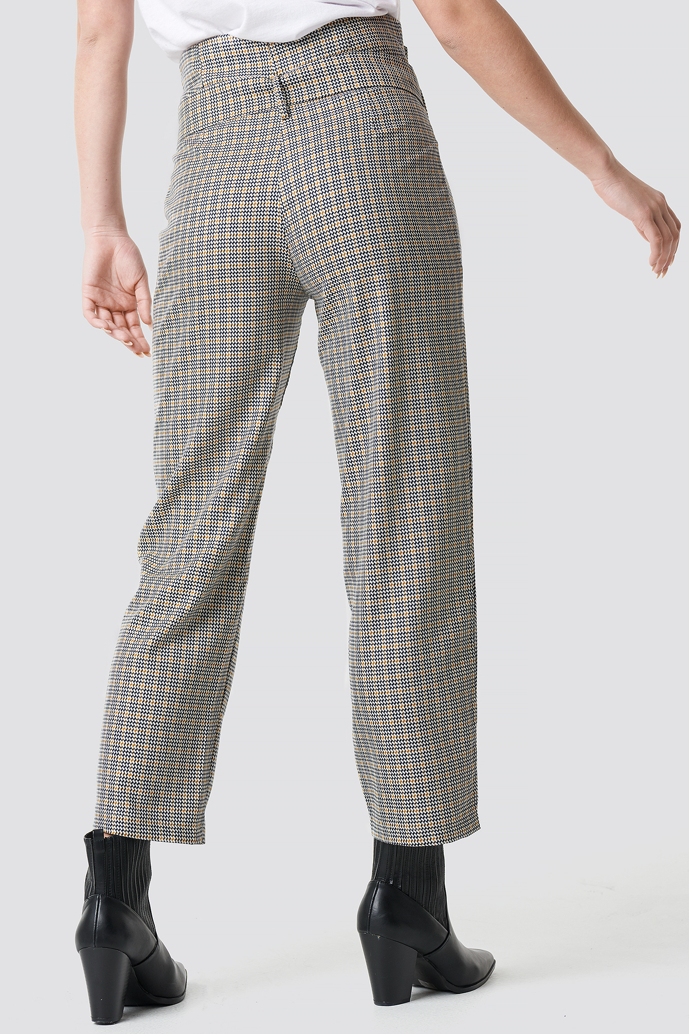 Checkered Belt Trousers NA-KD.COM