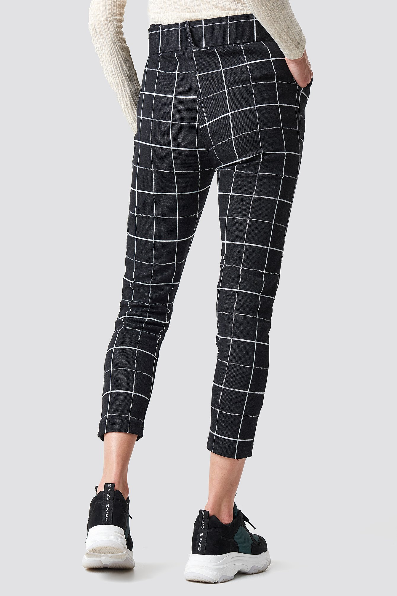Checkered Belted Pants NA-KD.COM