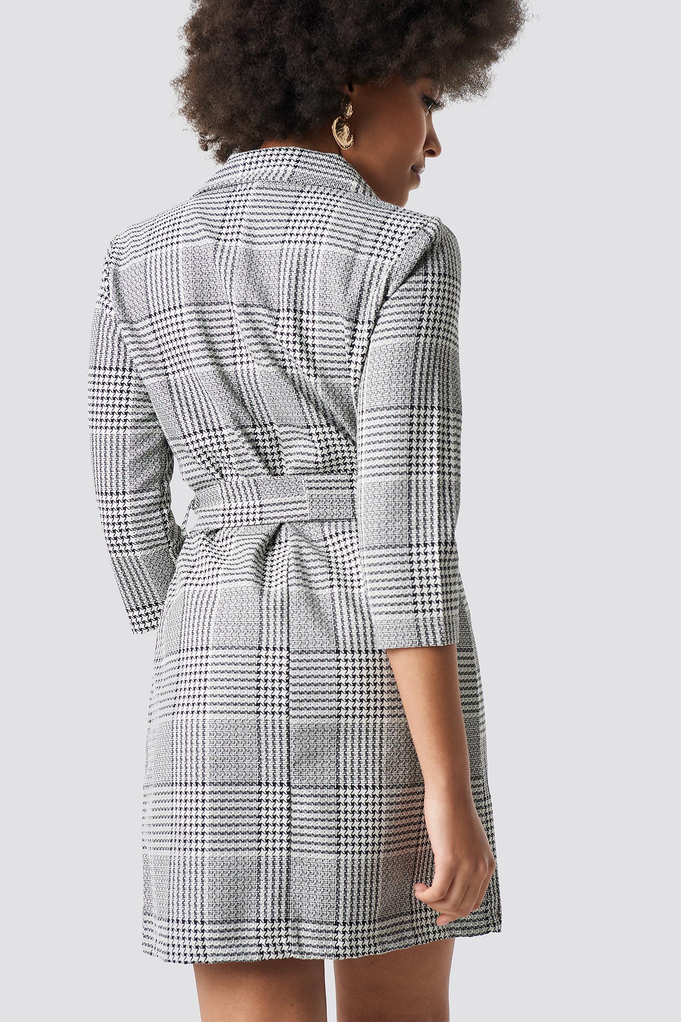 Checkered Jacket Dress NA-KD.COM