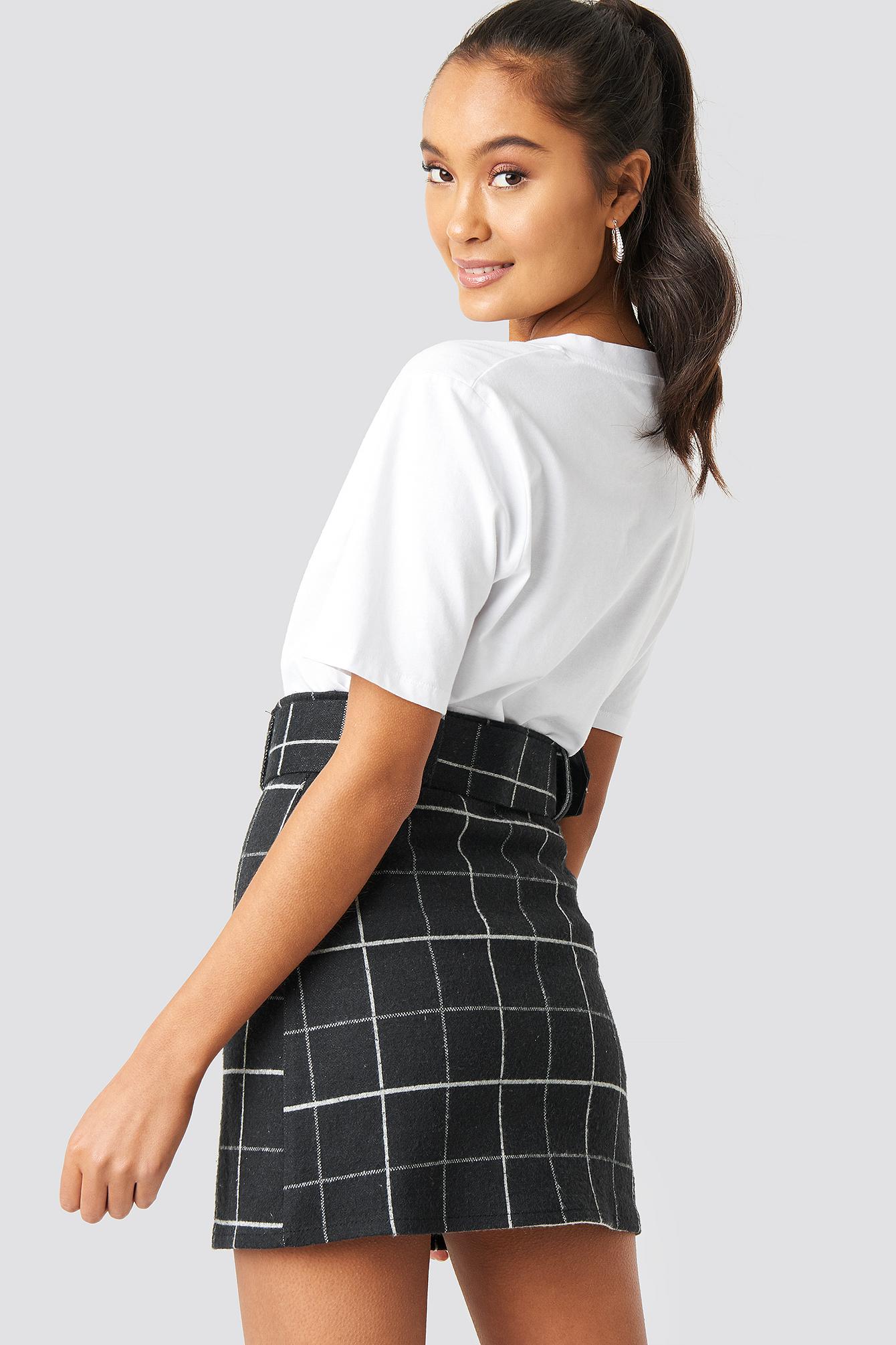 Checkered Mini Skirt NA-KD.COM