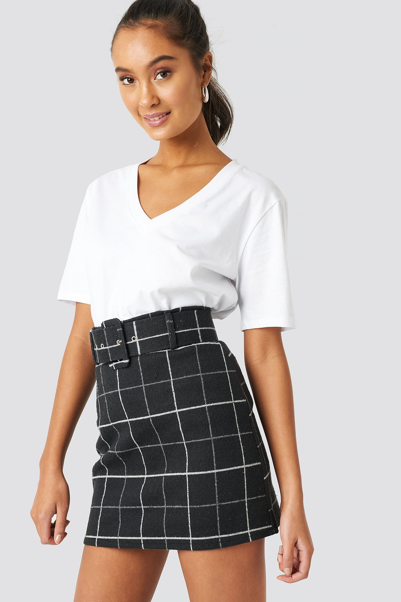 Checkered Mini Skirt NA-KD.COM
