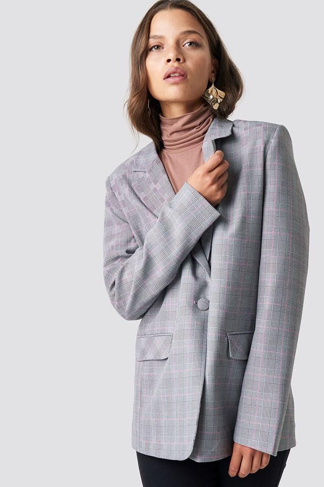 Checkered Plaid Blazer Trendyol