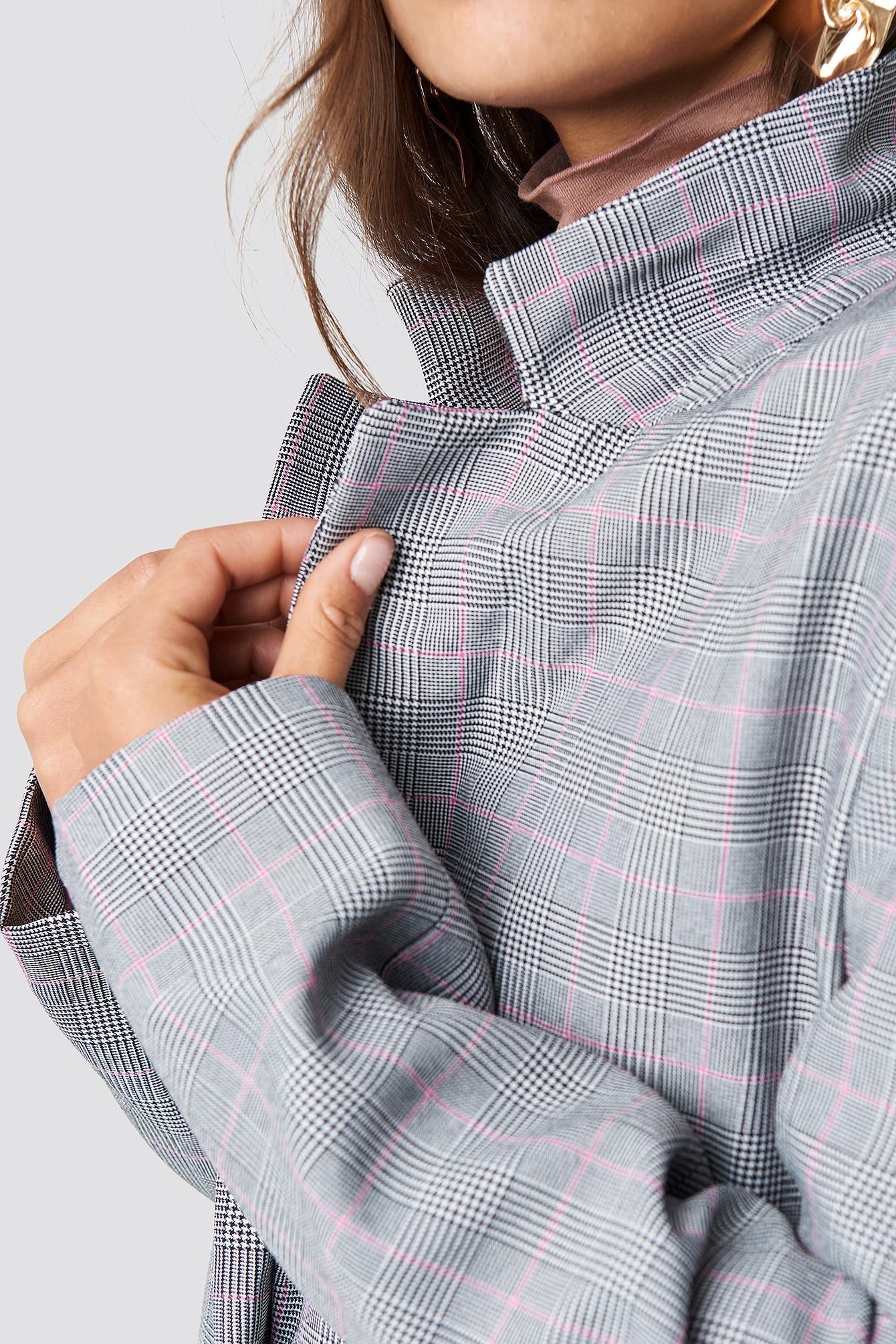 Checkered Plaid Blazer NA-KD.COM