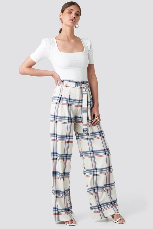 Checkered Plaid Trousers NA-KD.COM