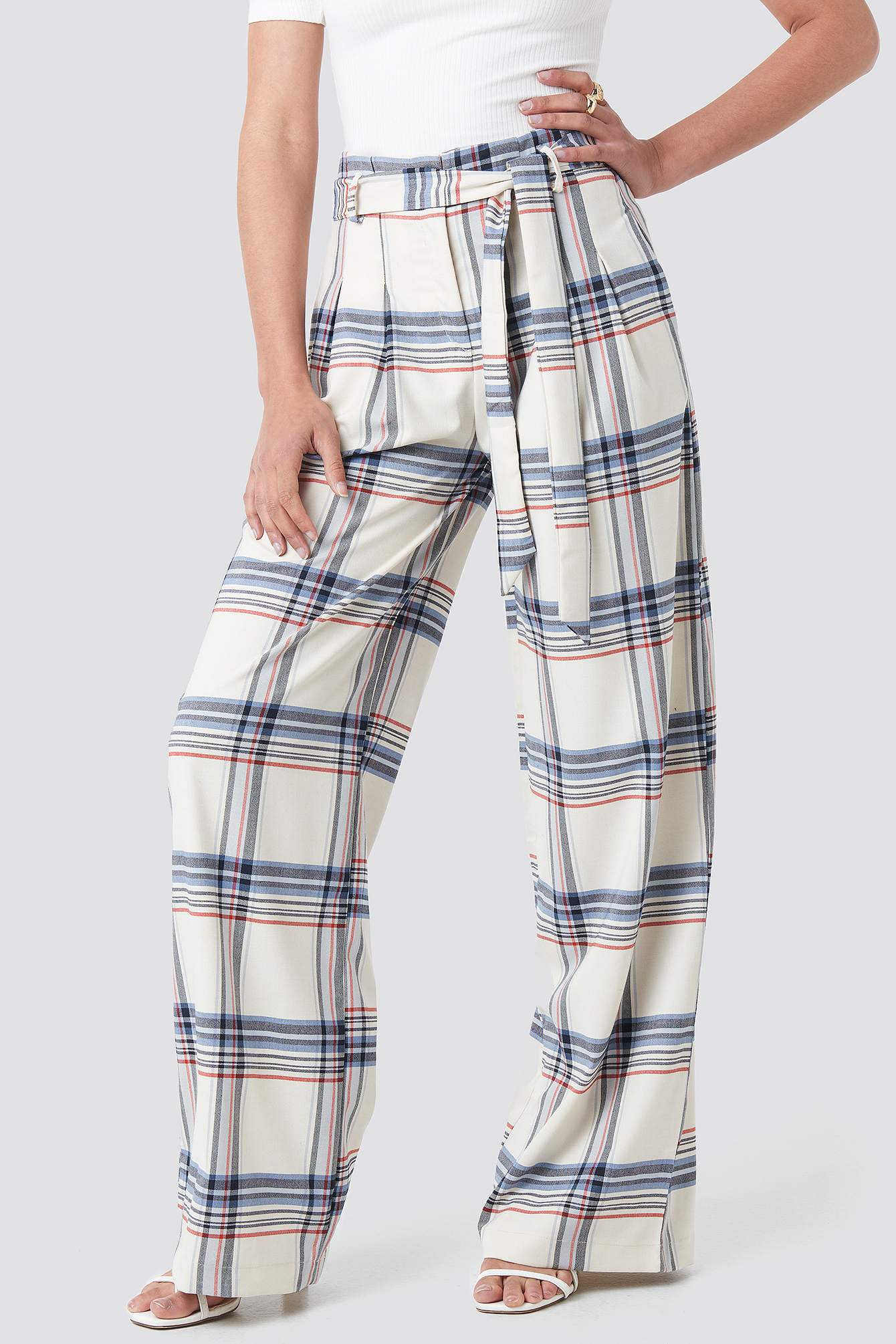 Checkered Plaid Trousers NA-KD.COM