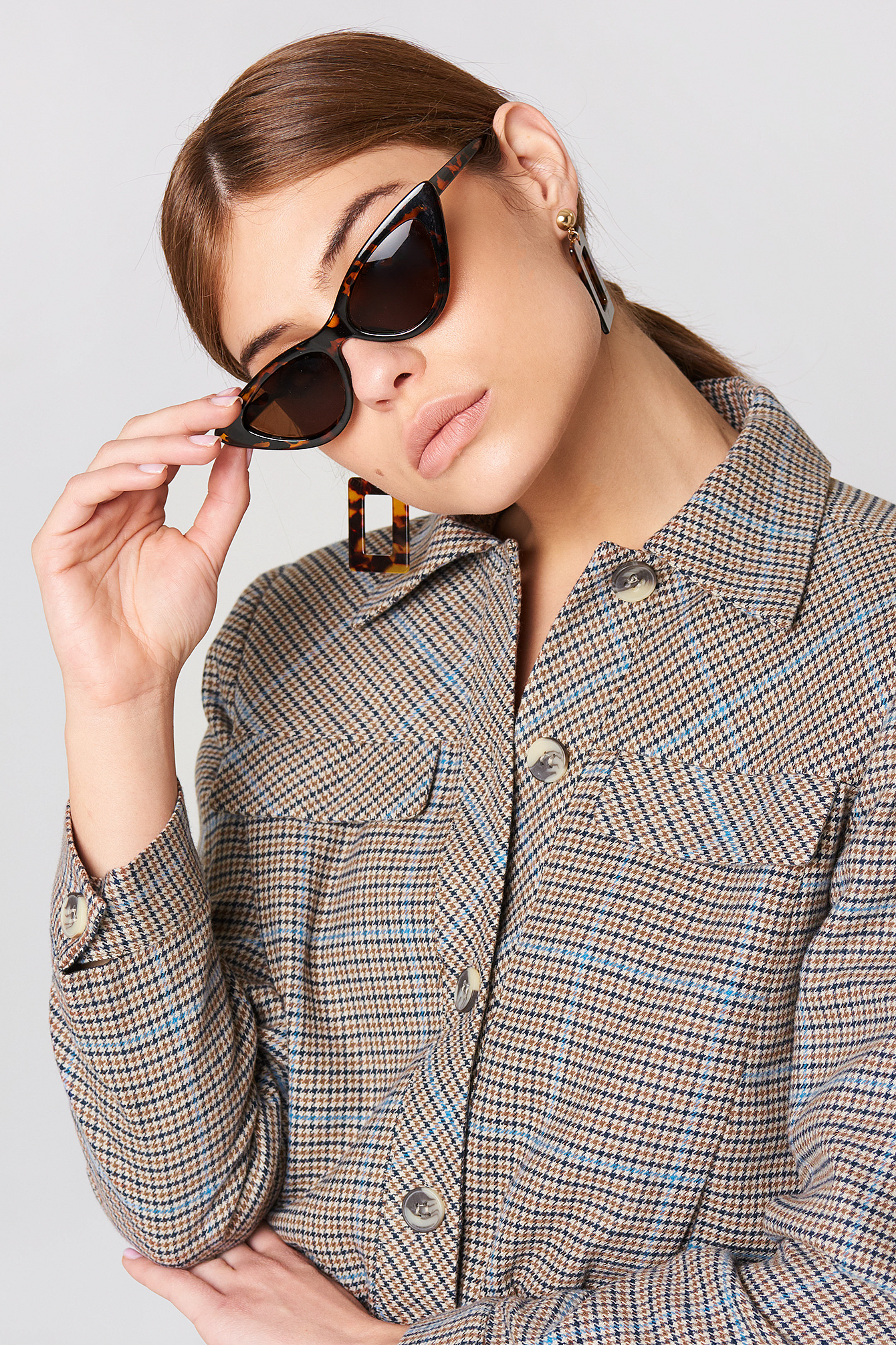 Checkered Short Jacket NA-KD.COM
