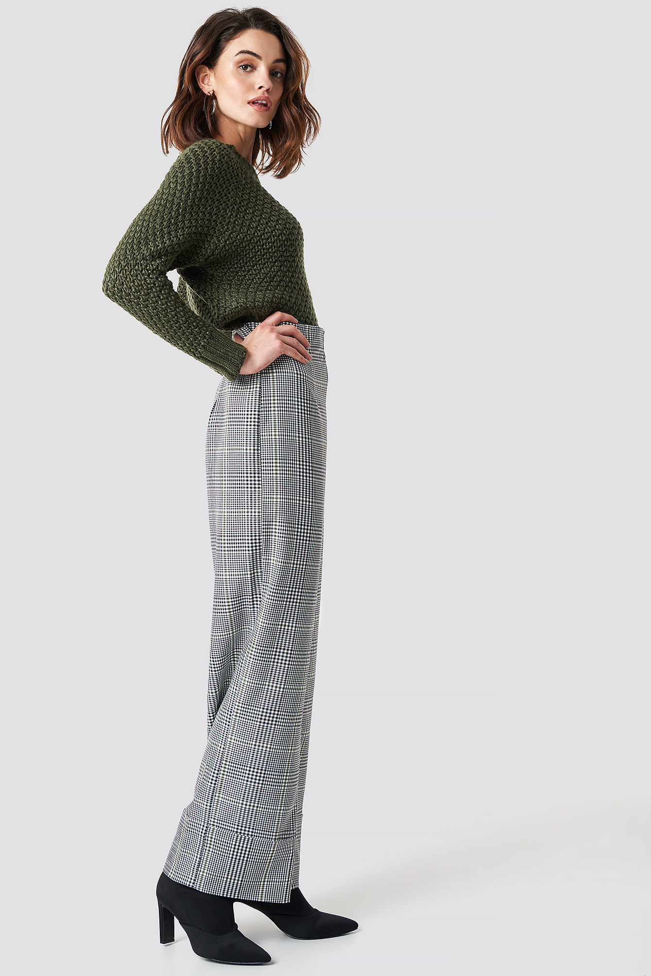 Checkered Wide Pants NA-KD.COM