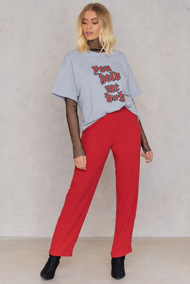 Cigarette Pants Red