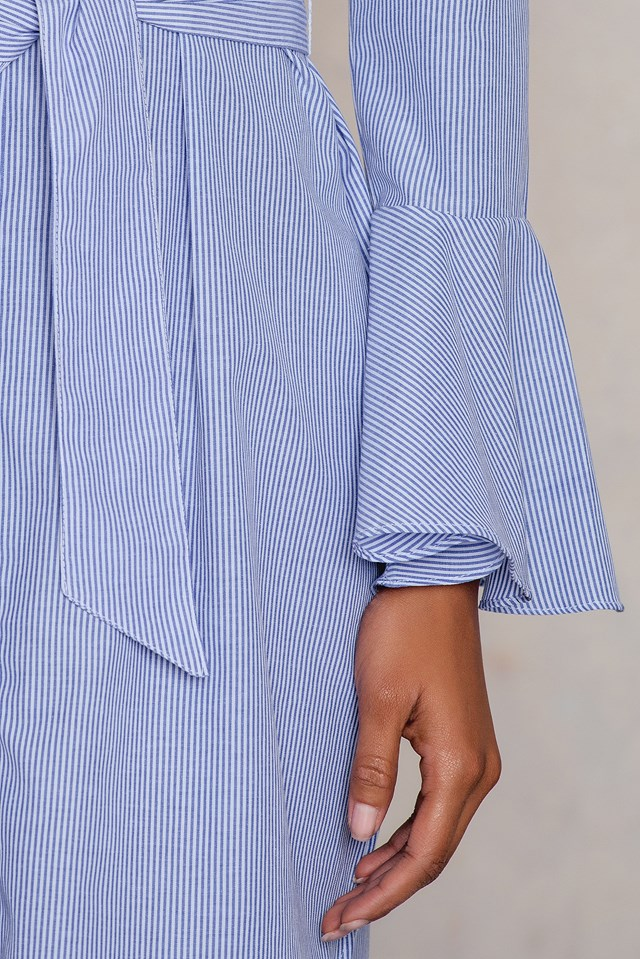 Cizgili Shirt Dress Striped