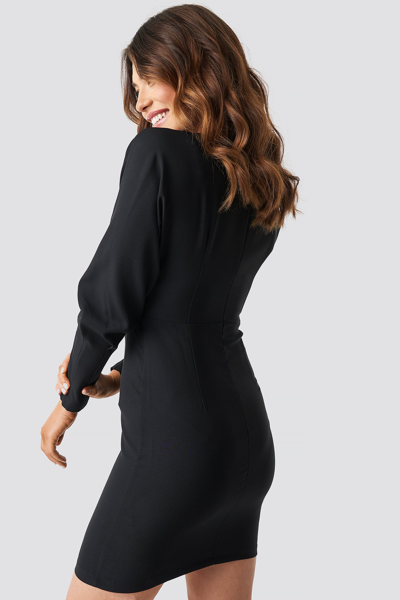 Classic Button Dress NA-KD.COM