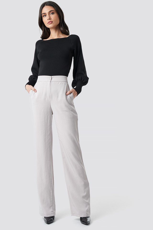 Classic Highwaist Pants Stone