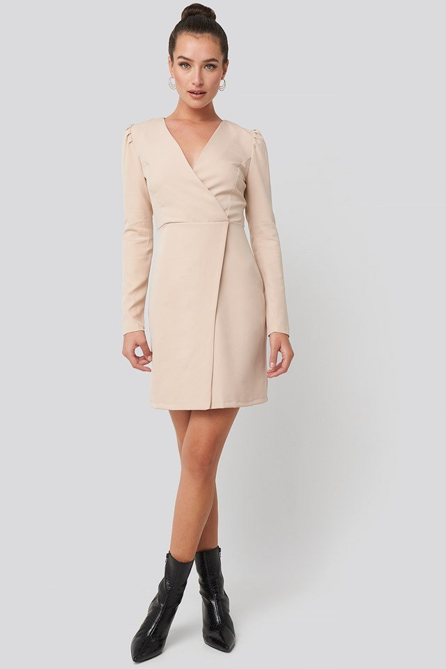 Classic Overlap Mini Dress Trendyol