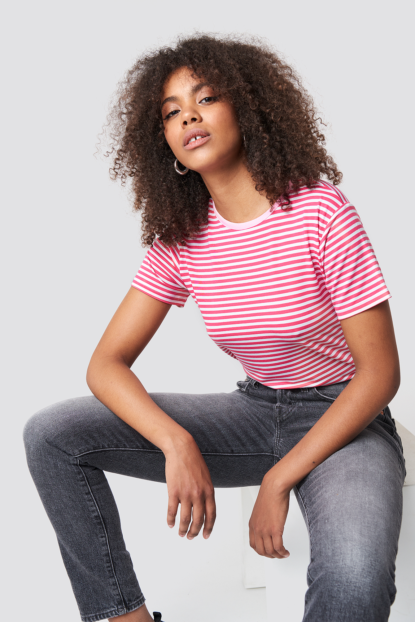 Classic Striped Basic Tee NA-KD.COM