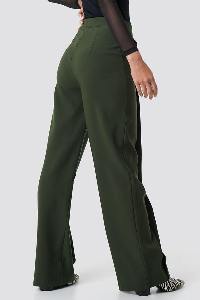 Classic Wide Pants Khaki