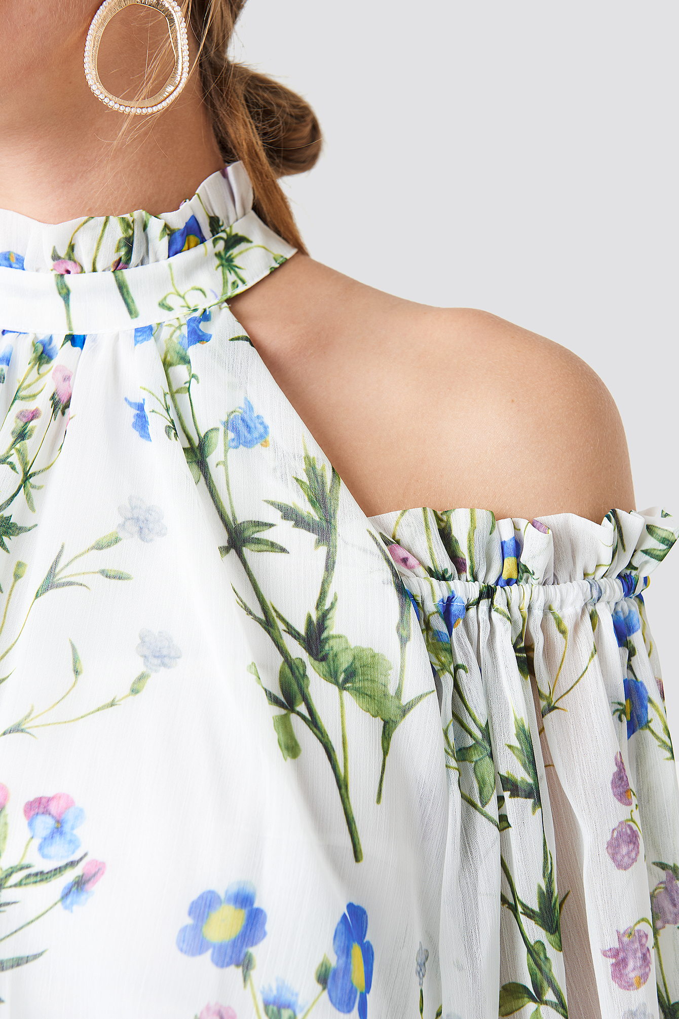 Cold Shoulder Flower Dress NA-KD.COM