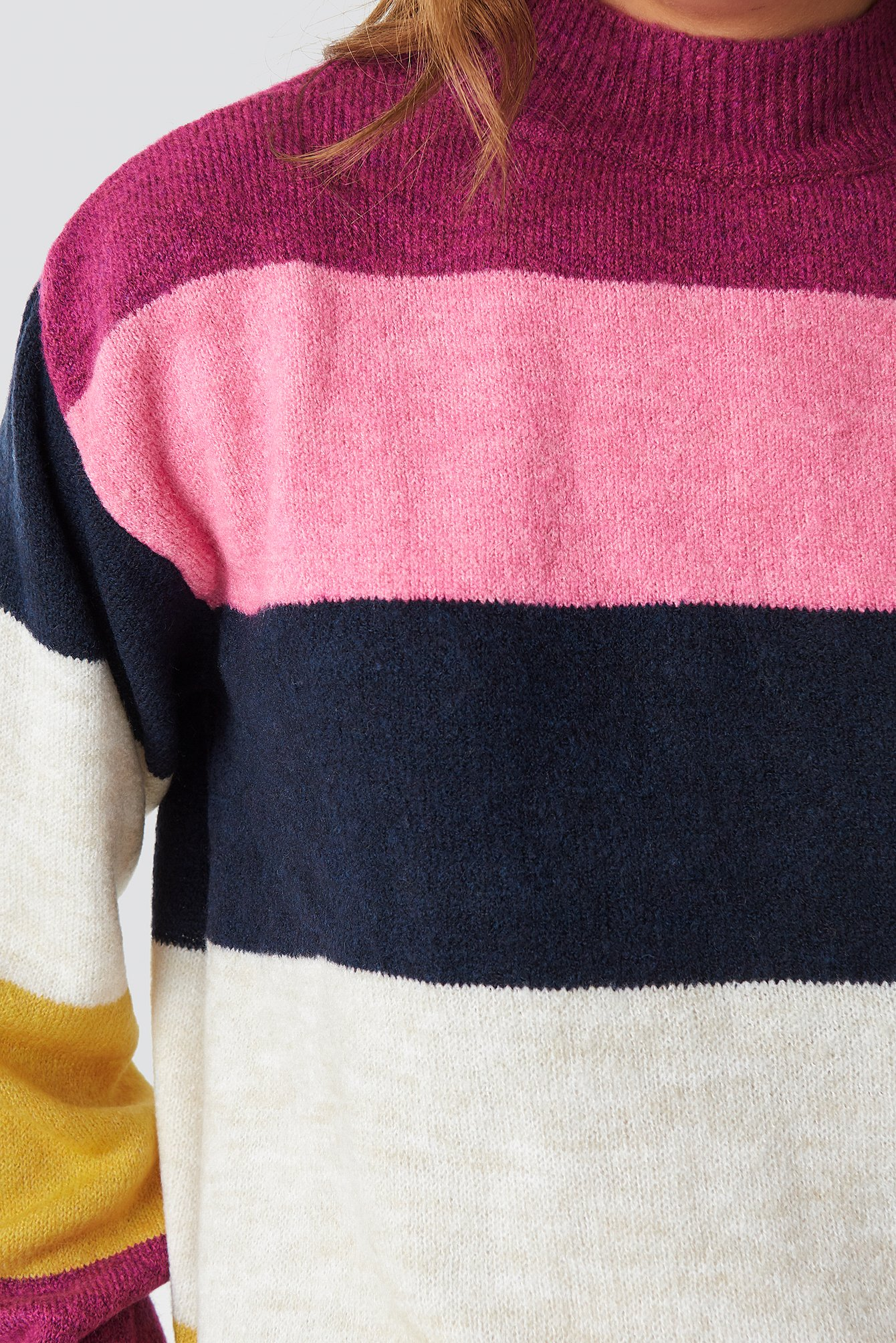 Color Blocky Knitted Sweater NA-KD.COM