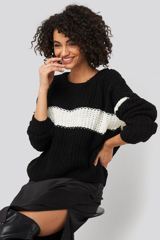 Colorblock Knitted Sweater Trendyol