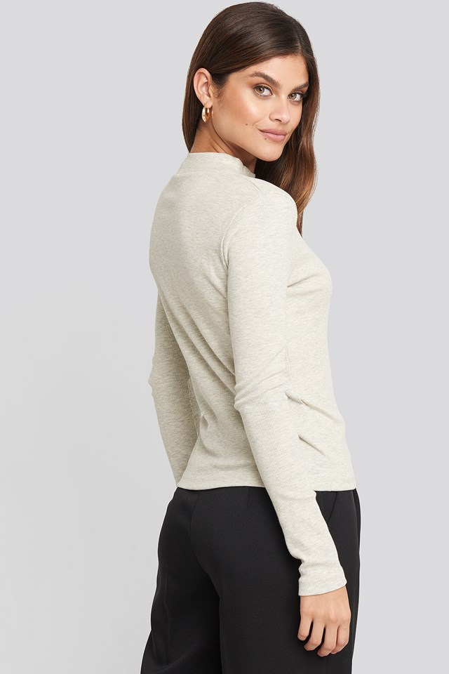 Corded Top Gray
