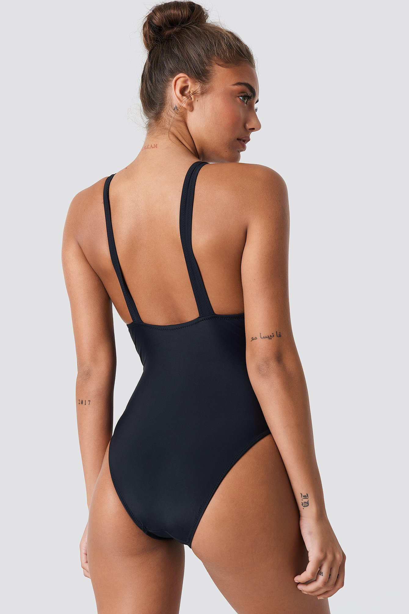 Corset Detailed Swimsuit NA-KD.COM