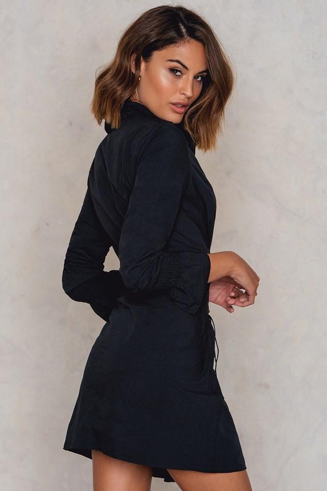 Corset Shirt Dress Black