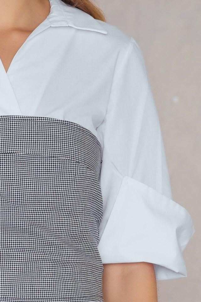 Corset Shirt Dress White