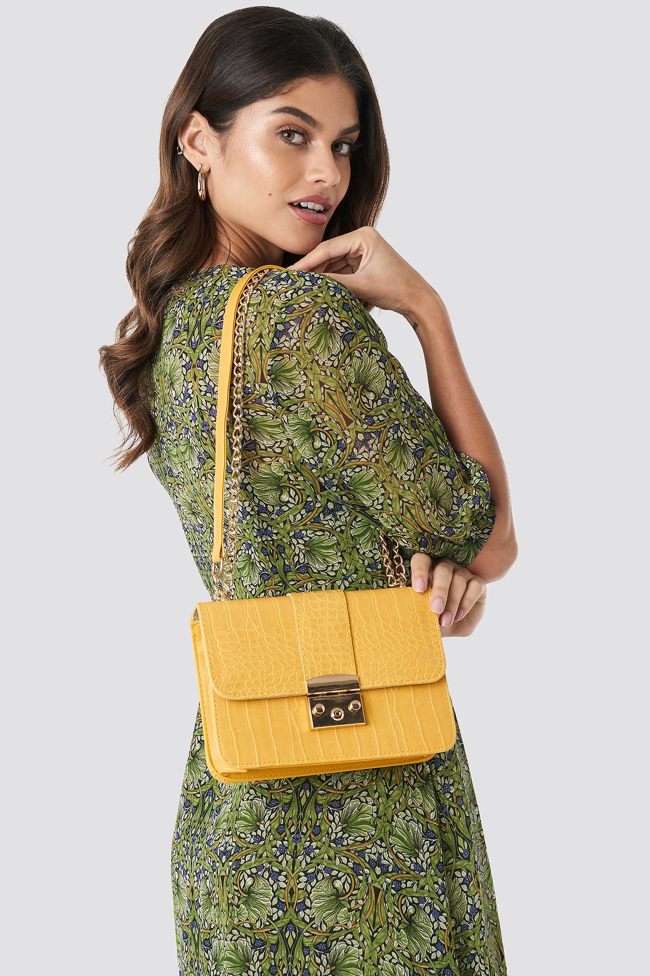 Croco Detailed Shoulder Bag NA-KD.COM