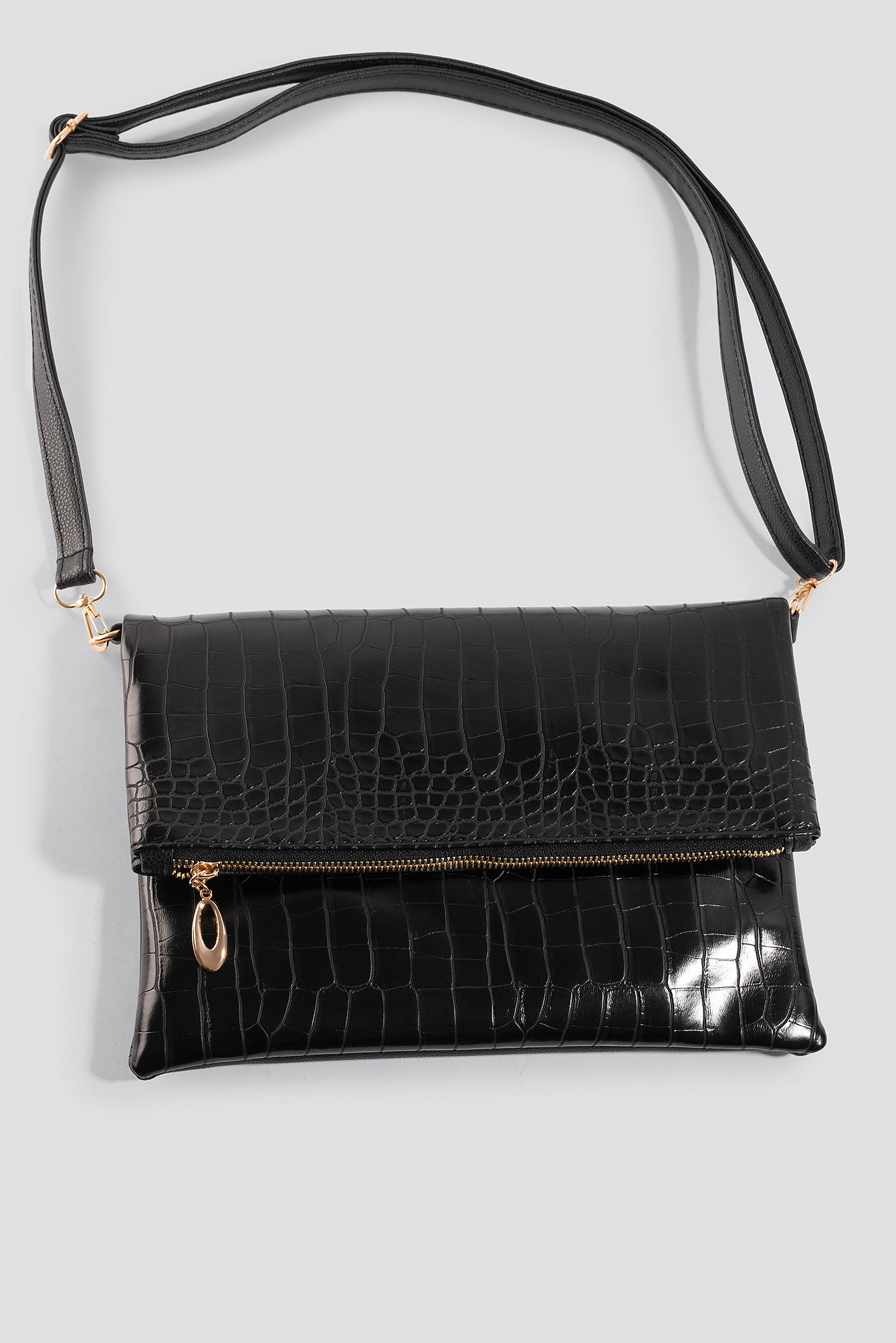 Croco Patterned Shoulder Bag NA-KD.COM