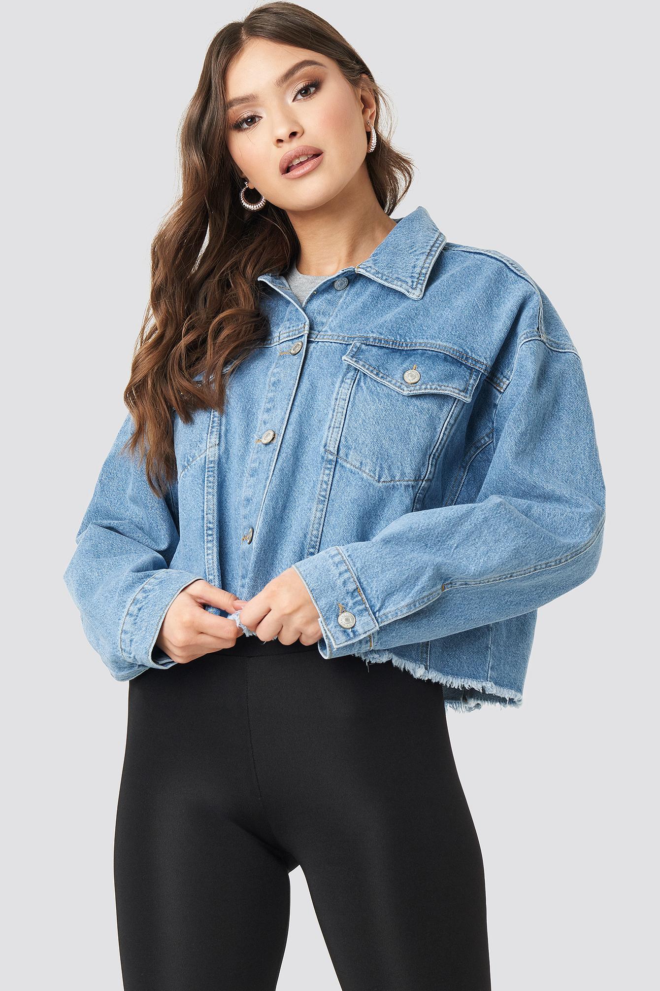Crop Denim Jacket NA-KD.COM
