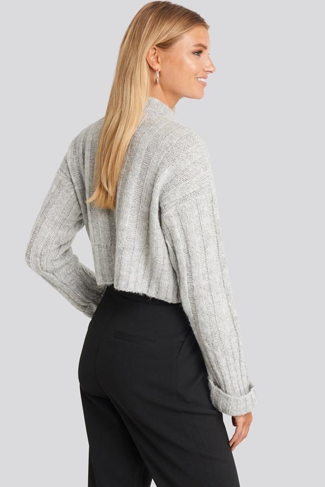Crop Sweater Gray