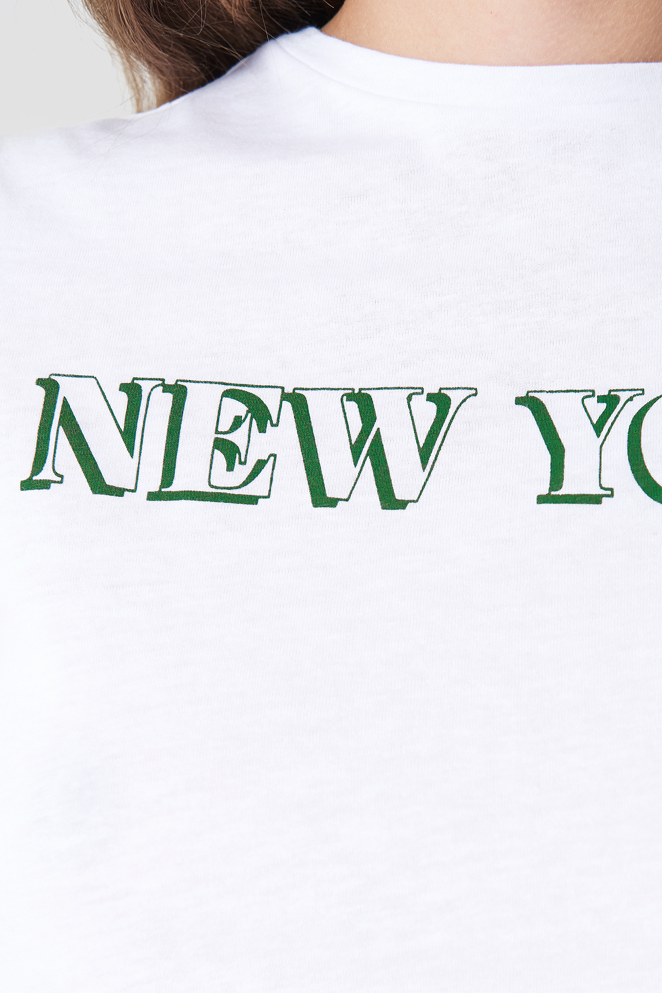 Cropped Knot New York Tee NA-KD.COM