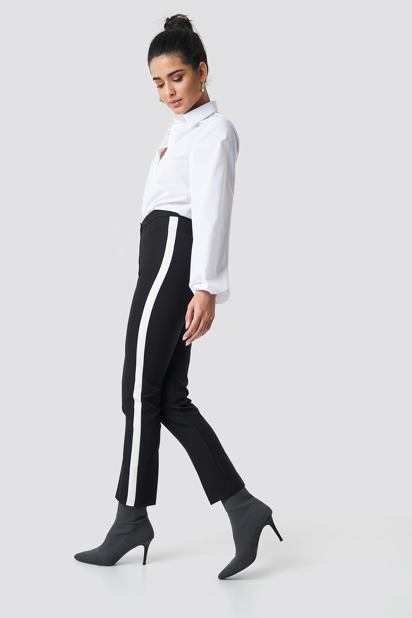 Cropped Stripe Pants NA-KD.COM