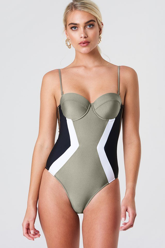 Cupped Swimsuit Khaki