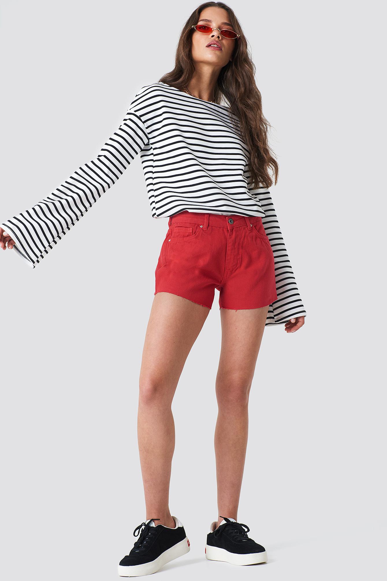 Cutted Hem Denim Shorts NA-KD.COM