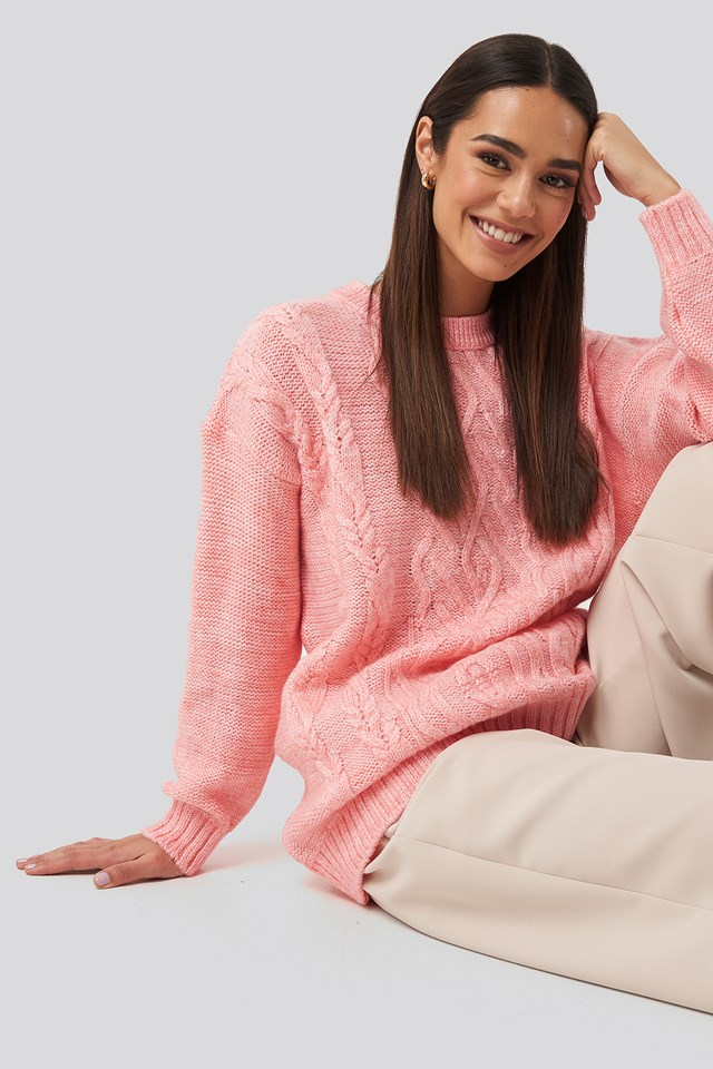 Cycling Collar Knitted Sweater Somon