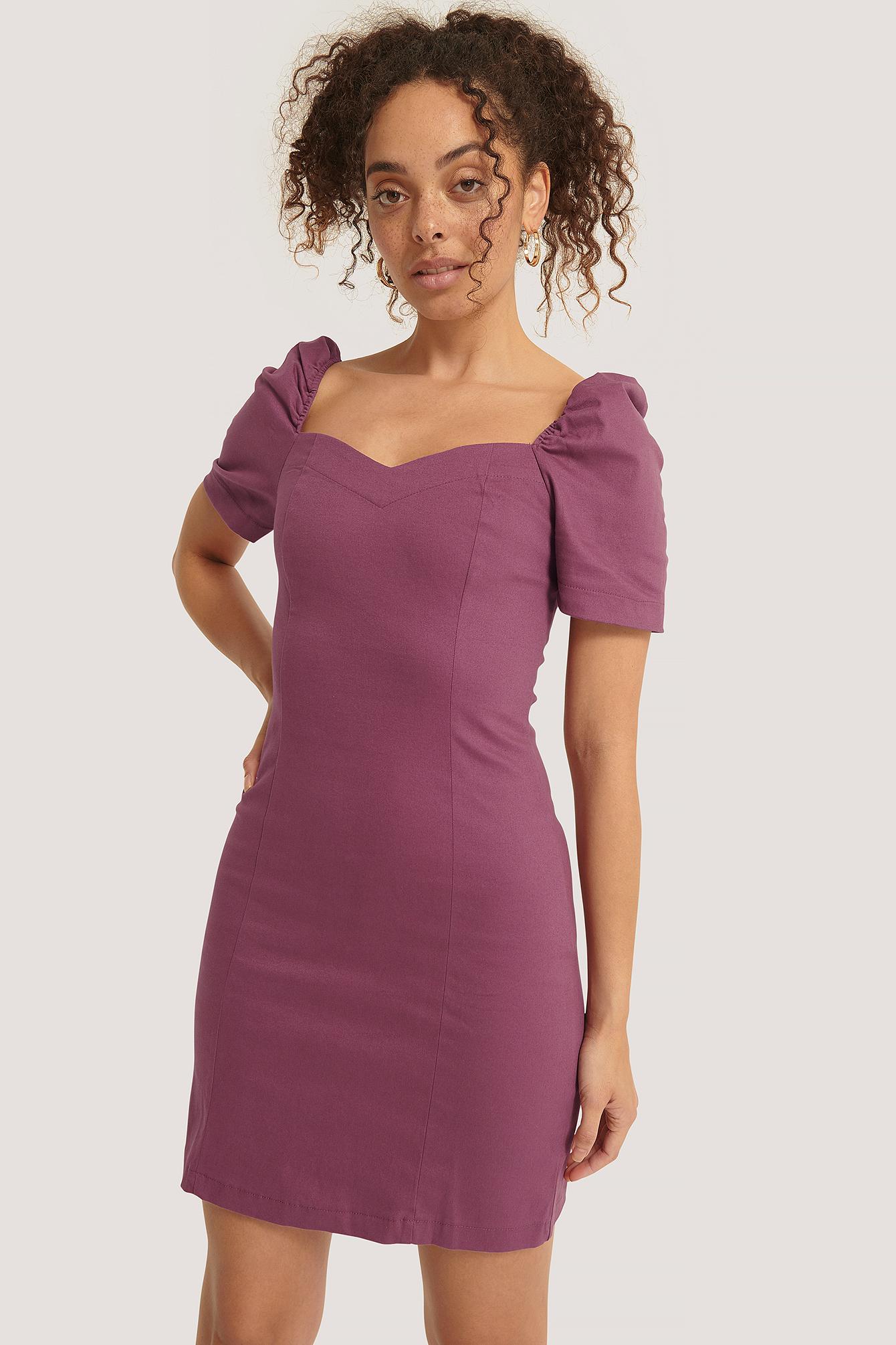 trendyol -  Kurzärmeliges Kleid - Purple