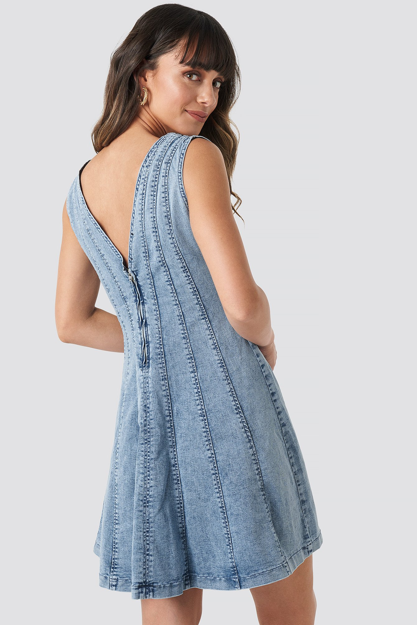 Denim Mini Dress NA-KD.COM