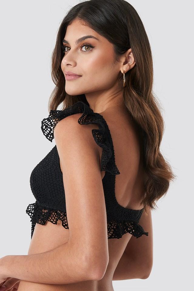 Flywheel Detailed Bikini Top Black