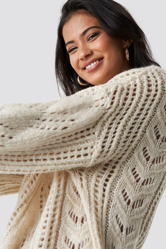 Detailed Knitted Pullover Stone