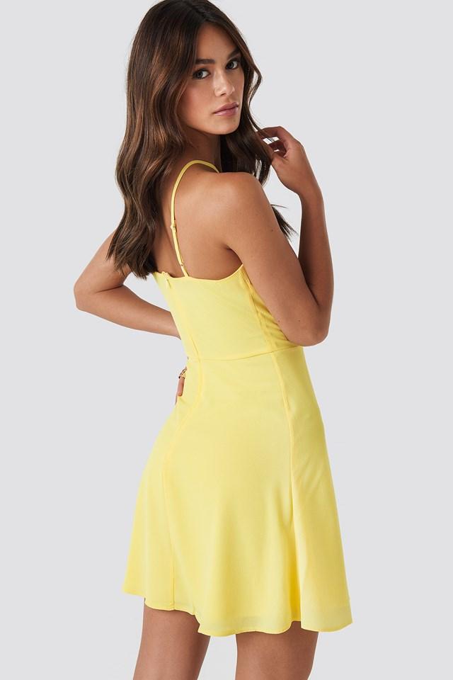 Strap Detailed Mini Dress NA-KD.COM