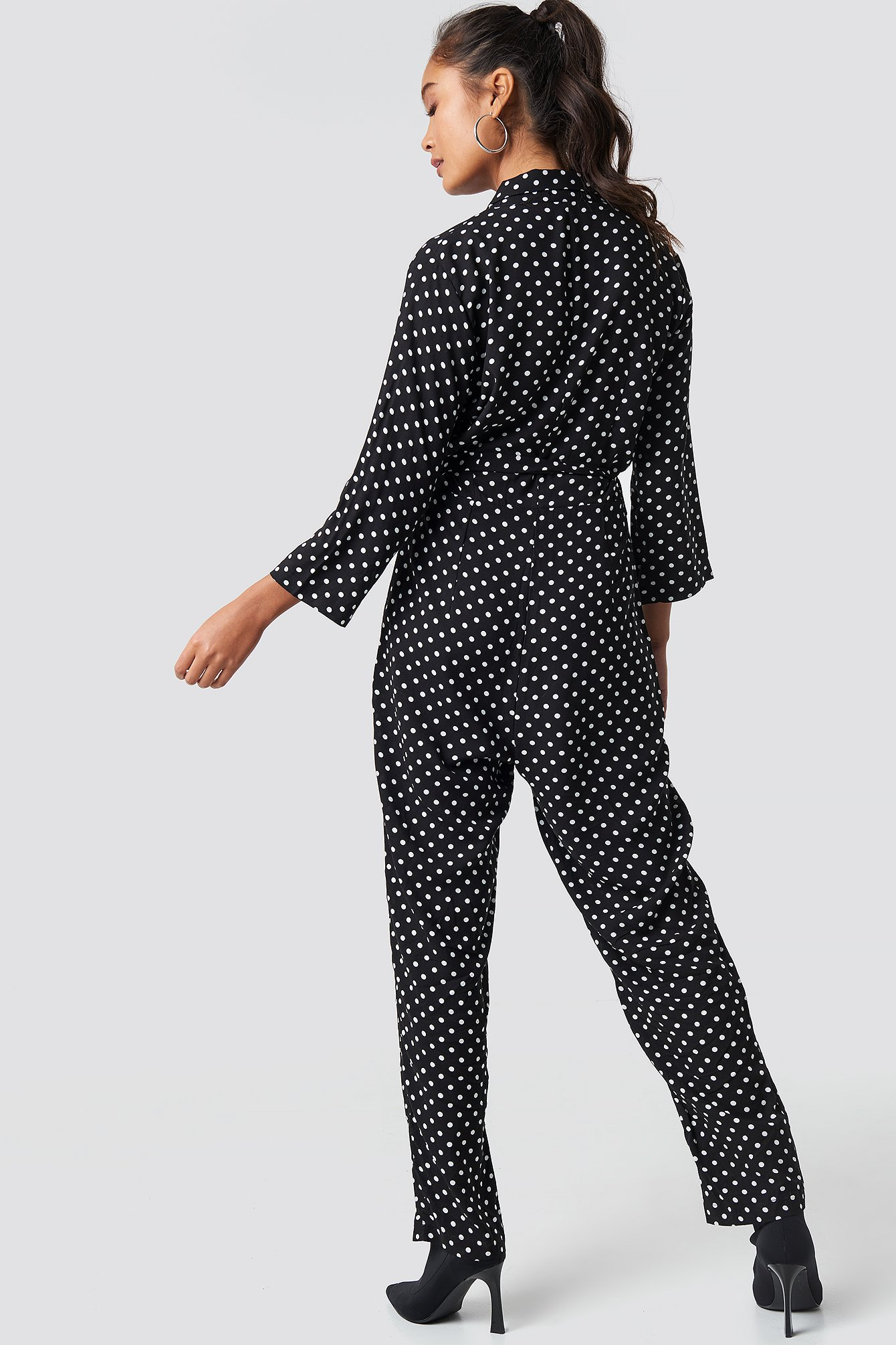 Dot Patterned Jumpsuit NA-KD.COM