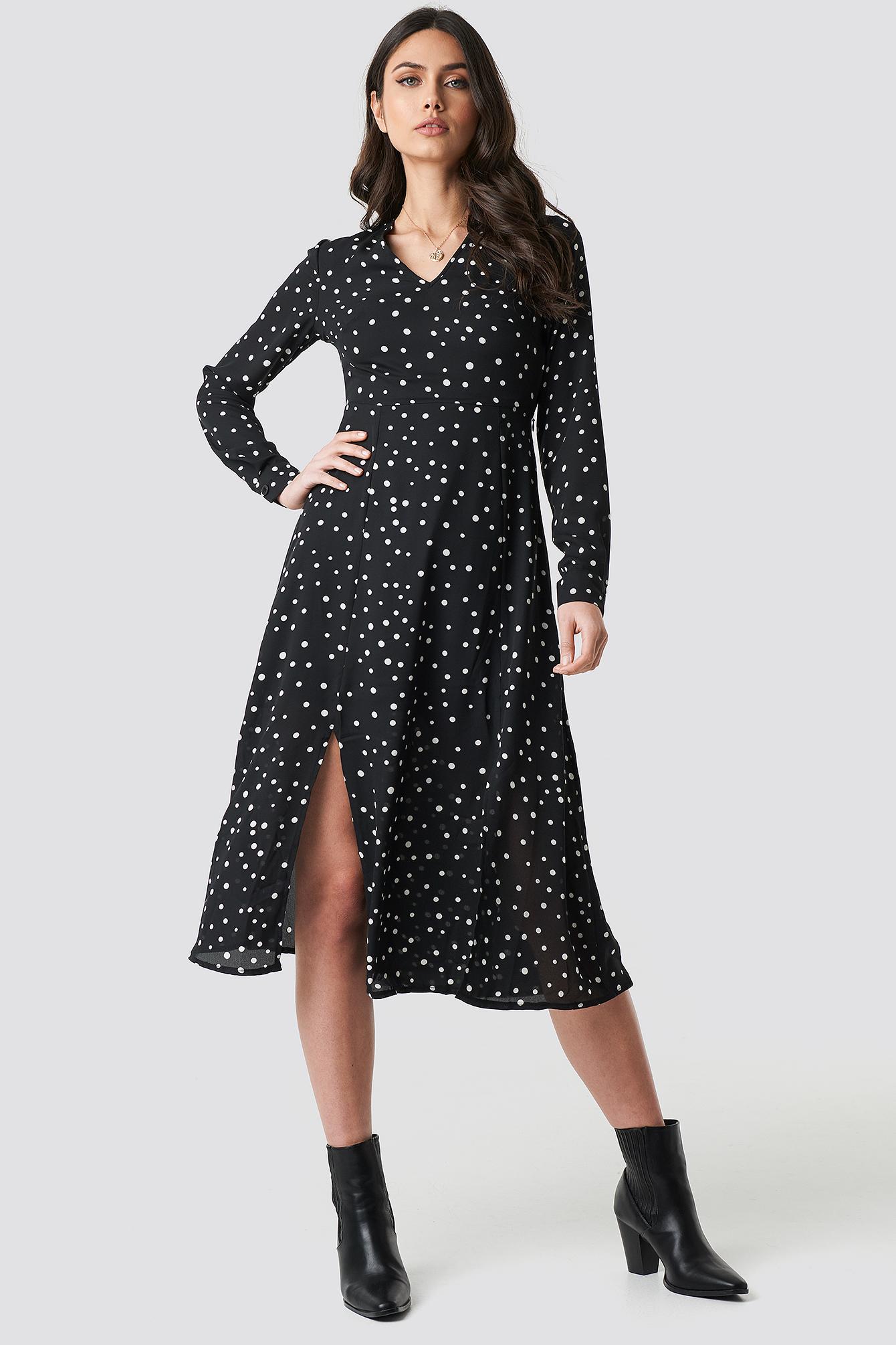 Dotted Long Dress NA-KD.COM