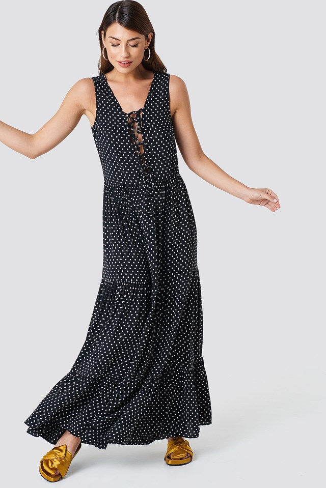 Dotted Maxi Dress Multicolor