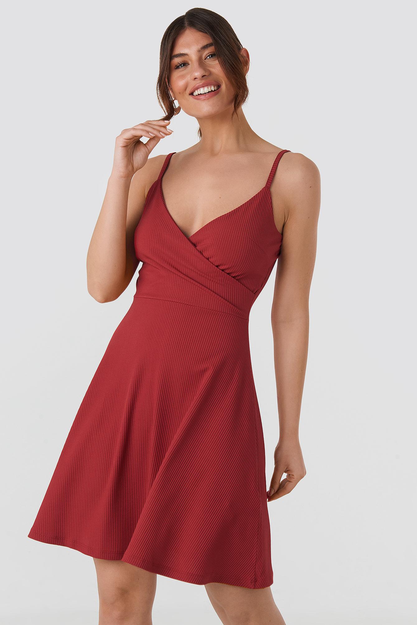 Double Breasted Ruched Mini Dress NA-KD.COM