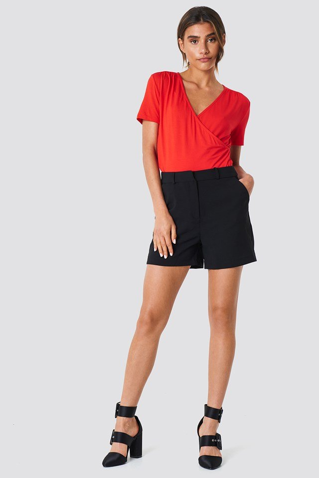 Double Layered Tee Red
