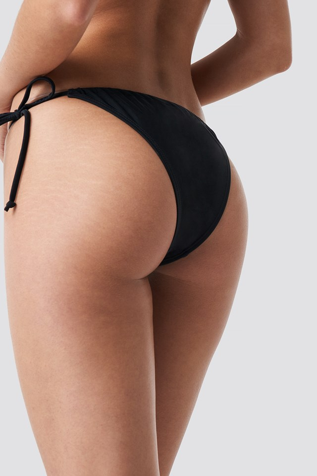 Drawstring Triangle Panty Black