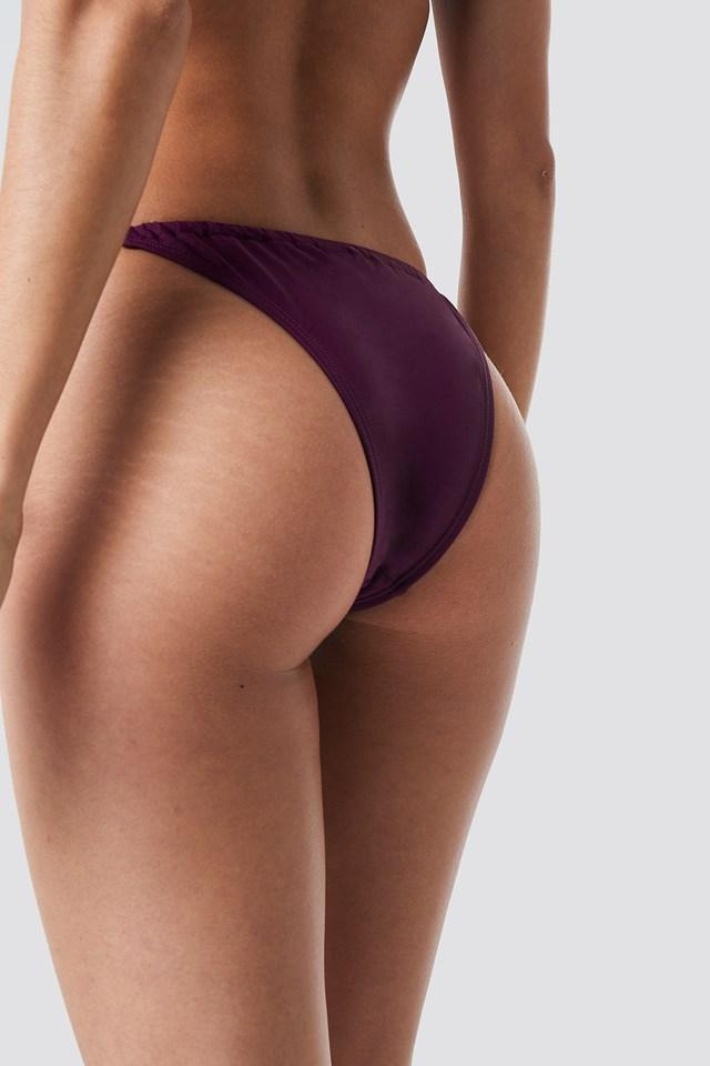 Drawstring Triangle Panty Purple/Black