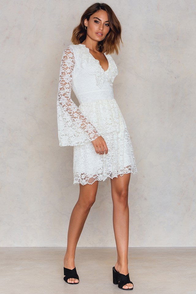 Ekru Lace Dress Ecru