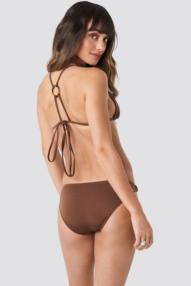 Ess Bikini Top Brown
