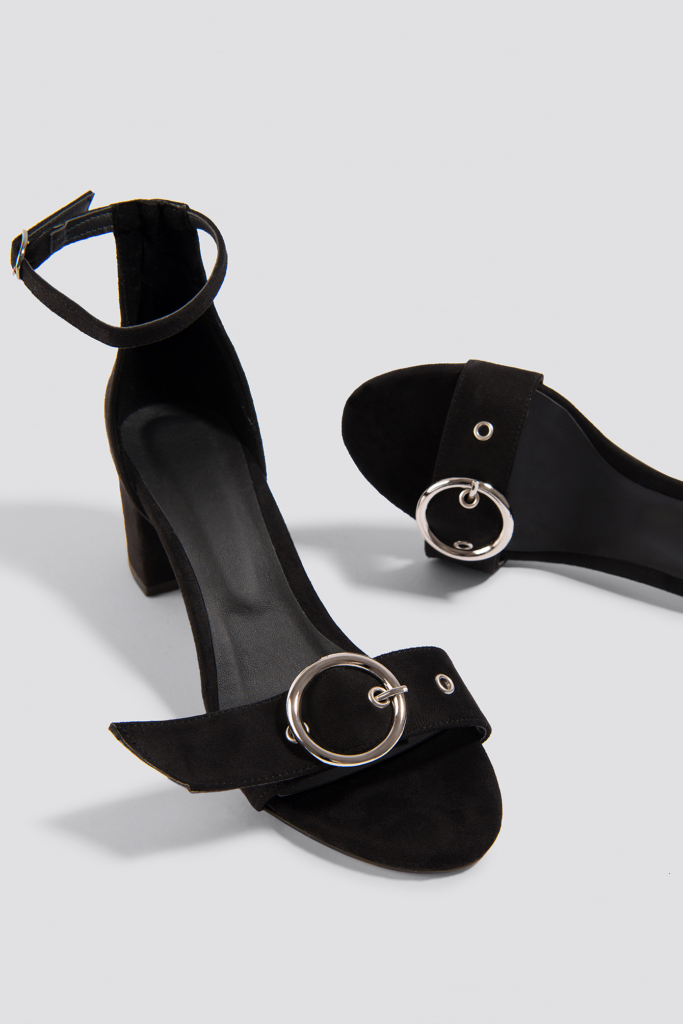 Eyelet Detailed Heels NA-KD.COM
